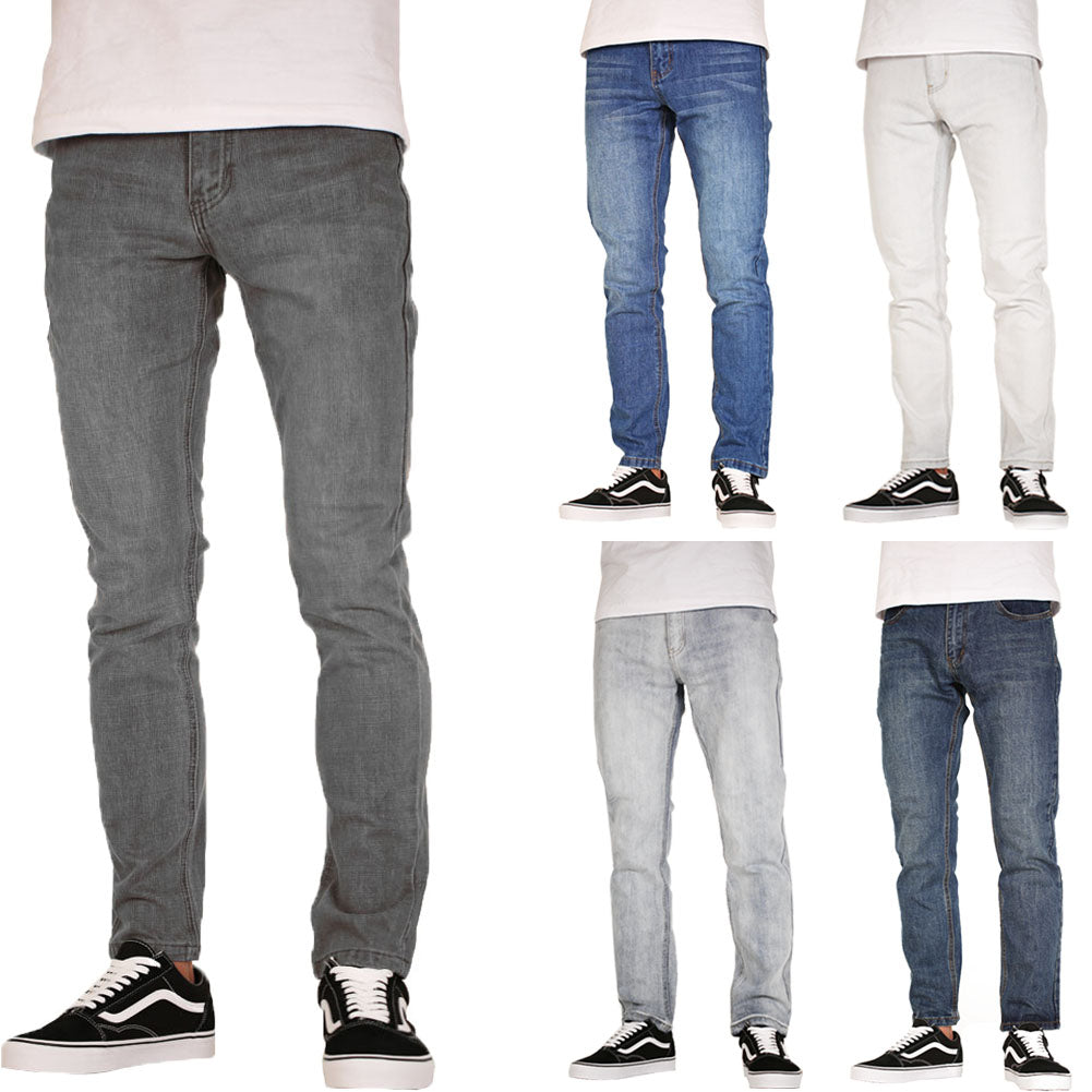 SLM Men's Skinny Jeans Washed Denim Color Skinny Jeans