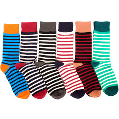 Men's 6 Pack of Colorful Fashion Dress Socks
