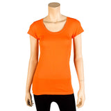 Women's Short Sleeve Solid Color Basic T-Shirt