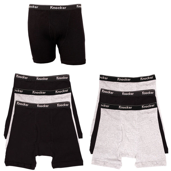 Men's 6 Pack of 100% Cotton Boxer Briefs