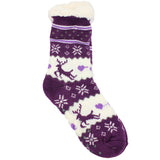 Women's Pair of Plush Fur Fleece Holiday Socks