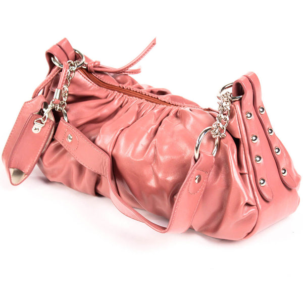 Women's Stud and Chain Detail Hobo Handbag