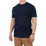 Men's 100% Cotton Crew Neck Short Sleeve Blank Tee T-Shirt