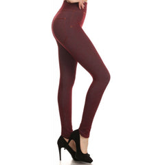 LAVRA Women's High Waist Full Length Jegging Stretch Skinny Jean Leggings