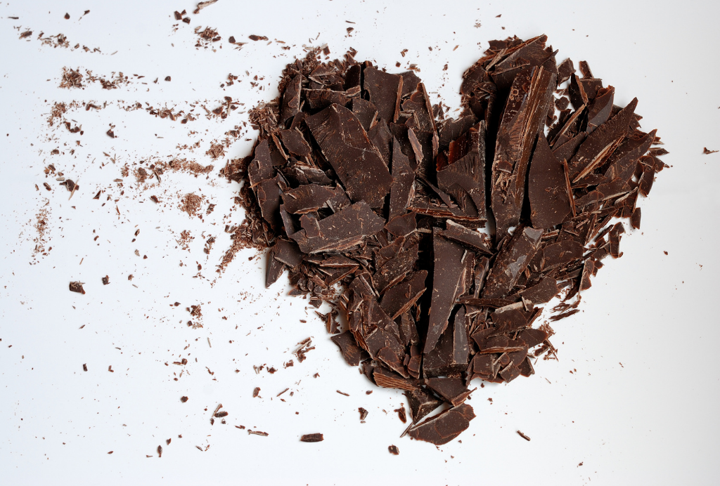Healthy Chocolate in the Shape of a Heart