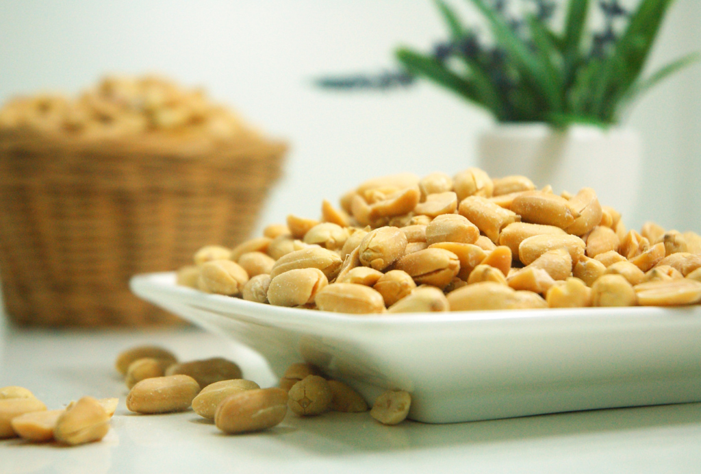 Healthy Bowl of Peanuts on Kitchen Table