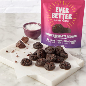 Double Chocolate Delight! Protein Cookie Bites
