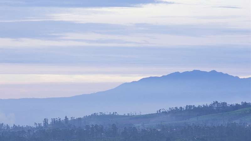 Landscape photo from the island of Java, Indonesia