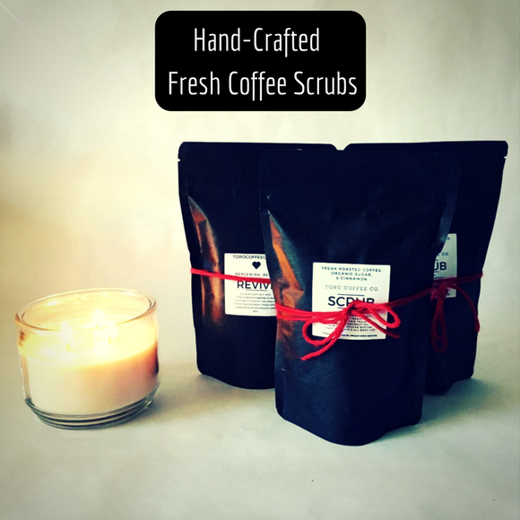SCRUB - Coffee, Cinnamon, & Sugar - All Over Organic & Edible