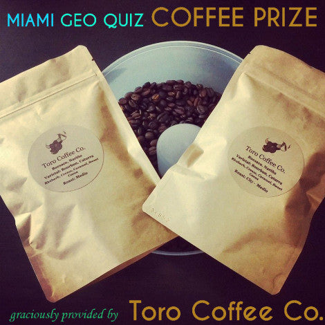 Winner of Miami Geographic Miami Geo Quiz!
