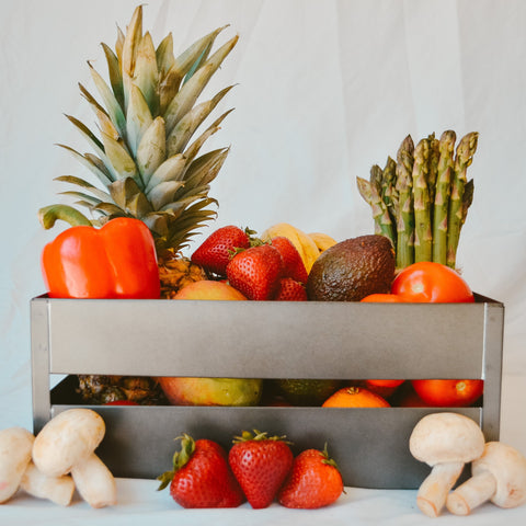 fruits and vegetables box, fresh produce