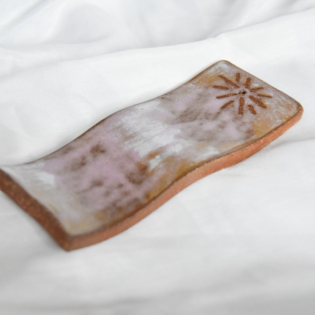 Shimmer Wavy Incense Holder