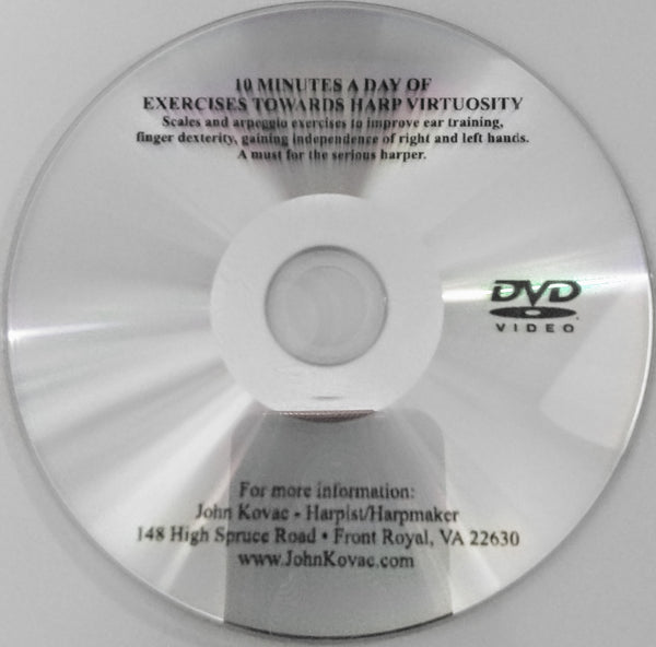 DVD: 10 MINUTES A DAY OF EXERCISES TOWARDS HARP VIRTUOSITY