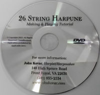 KIT DVD: MAKE YOUR OWN 26 STRING HARPUNE HARP