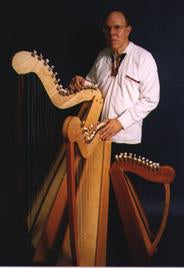 John Kovac & his kit harps