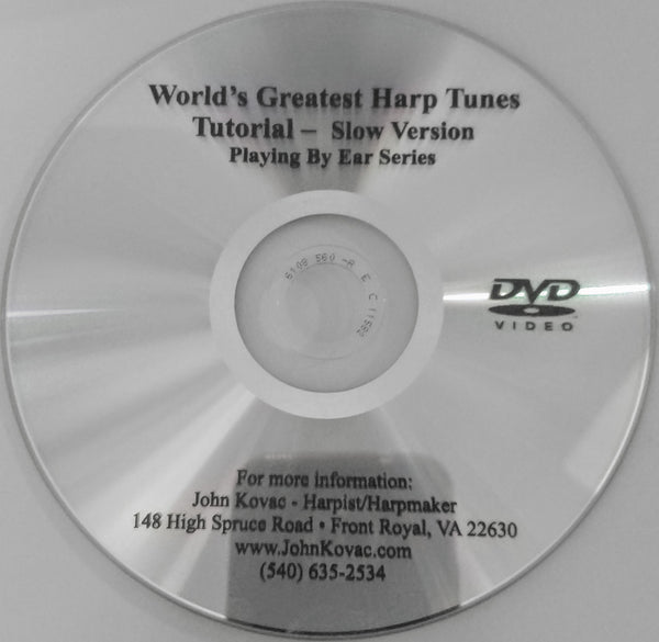 DVD: WORLD'S FAVORITE HARP TUNES- A LEARNING COMPANION DVD MATCHES CD