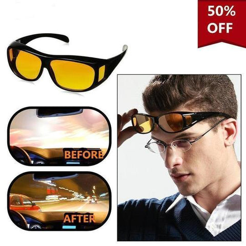 Night Vision Glasses + Free Glass Protection Case Worth ₹399