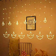 Diya Curtain Lights 12 Stars (HIGH QUALITY)