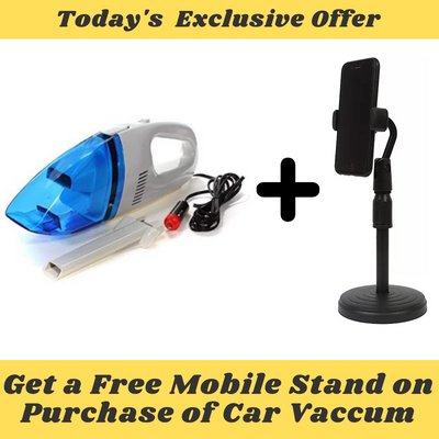 Car Vacuum Pro + Free Mobile Stand [ Worth Rs 499 ]