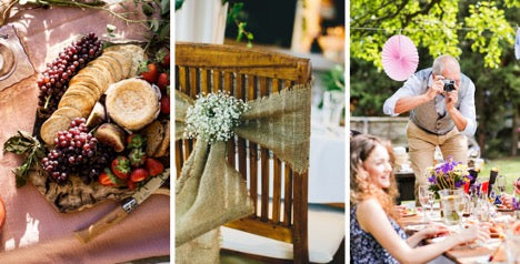 How to style outdoor furniture for garden parties