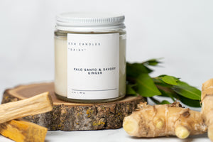 "Palo Santo & Savory Ginger - ""The Daisy Candle"""