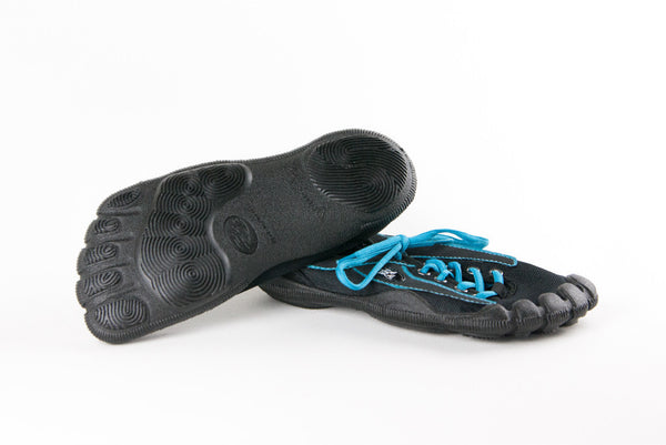 Black Upper, Turquoise Stitching & Black Sole (M)
