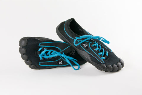 Black Upper, Turquoise Stitching & Black Sole (W)