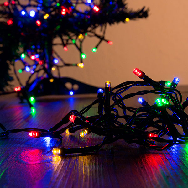 Multi-coloured Christmas Lights (96 LED)
