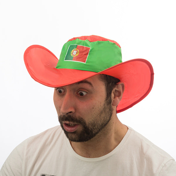 Portuguese Flag Foldable Hat