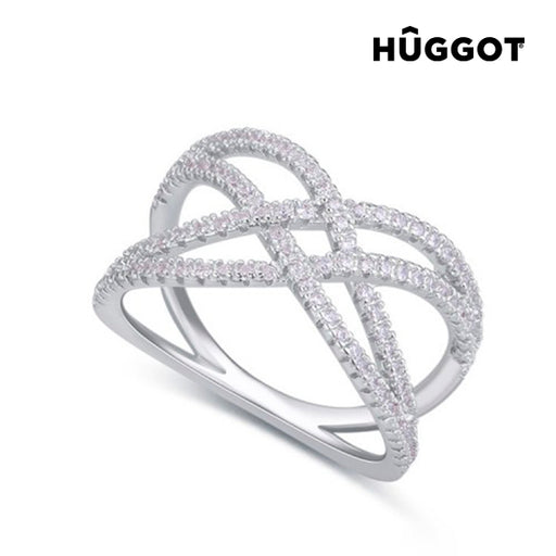 Hûggot Diadem 925 Sterling Silver Ring with Zircons