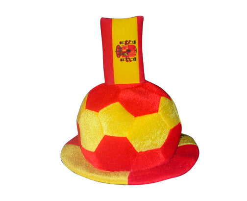 Football Hat with Spanish Flag Embellishment