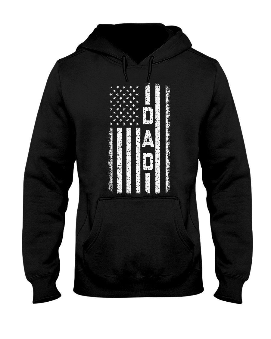 American Flag Dad Hooded Sweatshirt - Total Dads