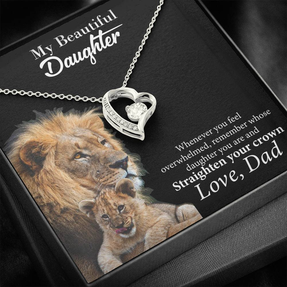 Forever Love Necklace - MY Beautiful Daughter - Total Dads
