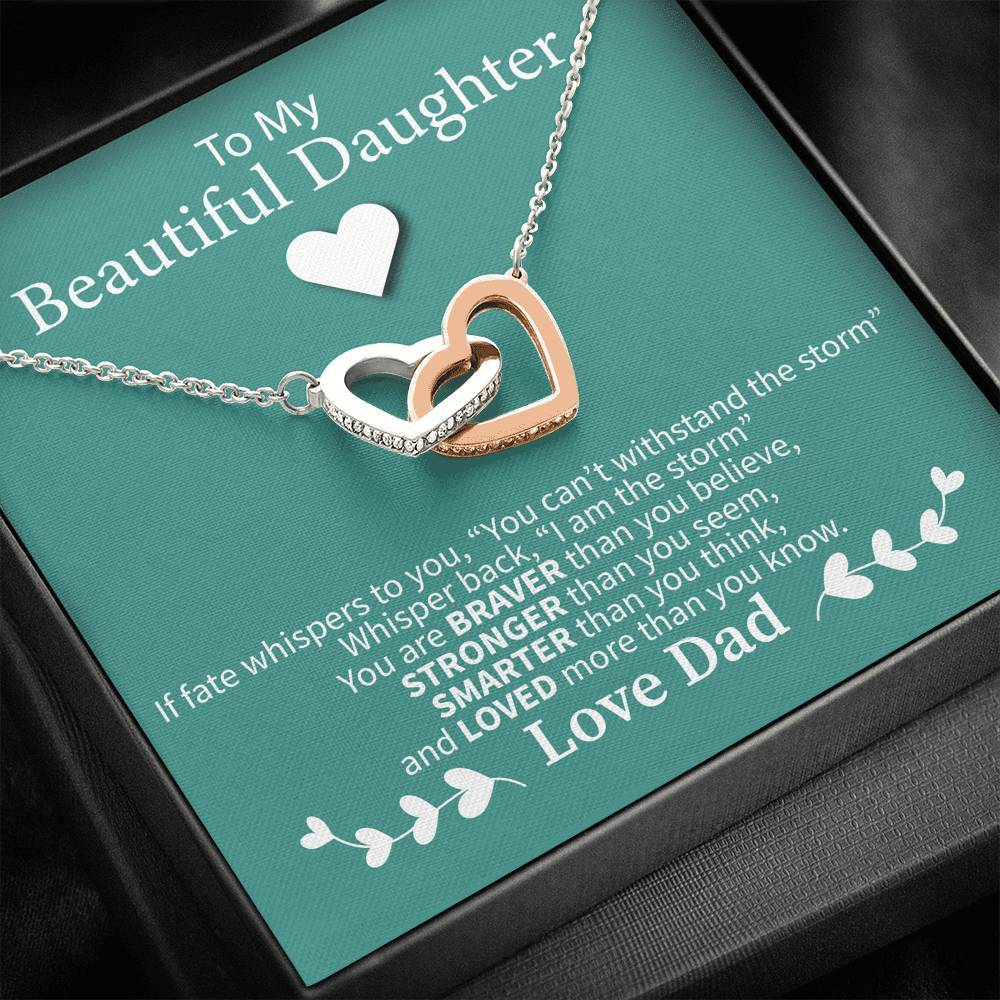 Interlocking Hearts Necklace - I Am The Storm - Total Dads