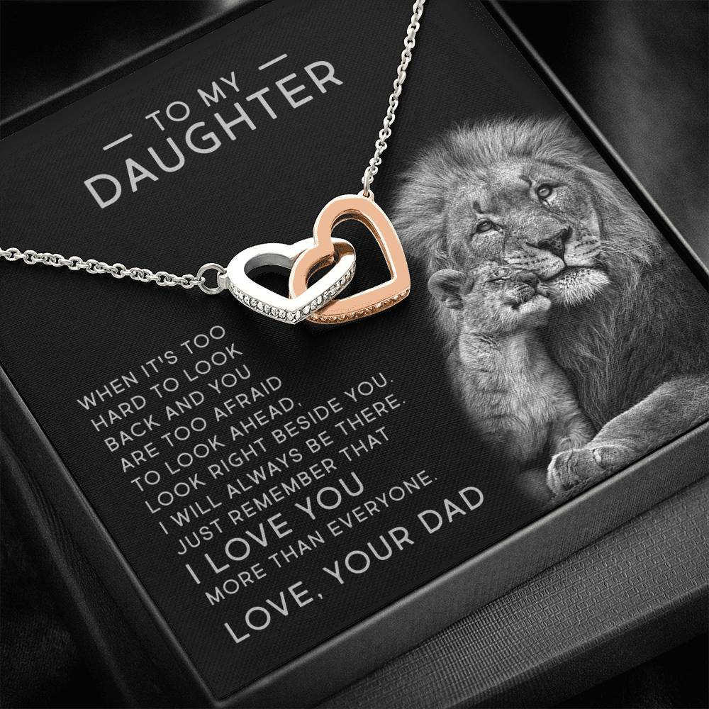 Interlocking Hearts Necklace - I Will Always Be There - Total Dads