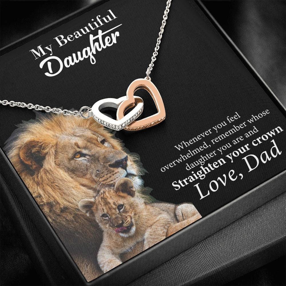 Interlocking Hearts Necklace - My Beautiful Daughter - Total Dads