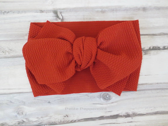 Burnt Orange Baby Headwrap