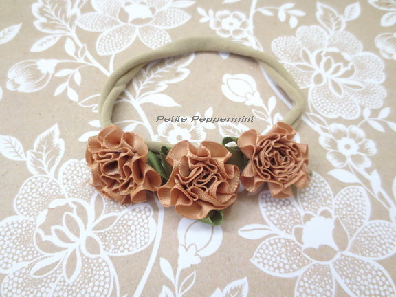 Brown Flower on Nylon Headband