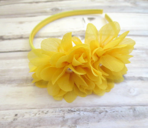Yellow Flower Girl Headband