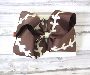 Football Big Bow Headband