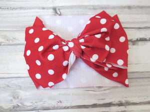 Red Polka Dot Baby Headwrap