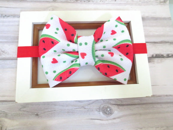Watermelon Baby Bow headband