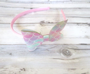 Pink Mermaid Bow Headband