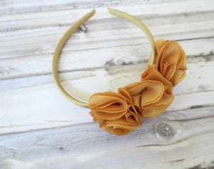 Mustard Yellow Flower Headband