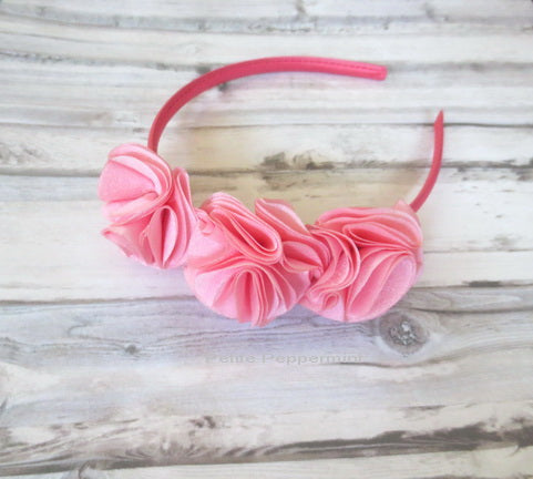 Coral Pink Flower Headband