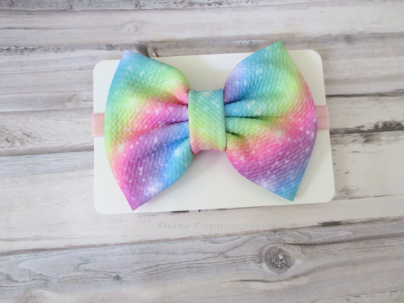Rainbow Bow Headband