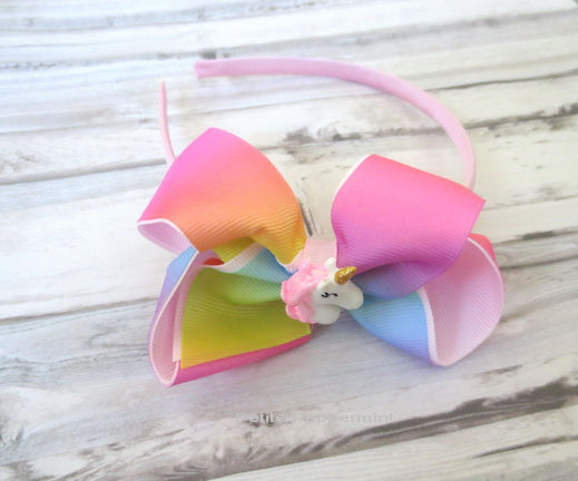 Rainbow Unicorn Girl Headband