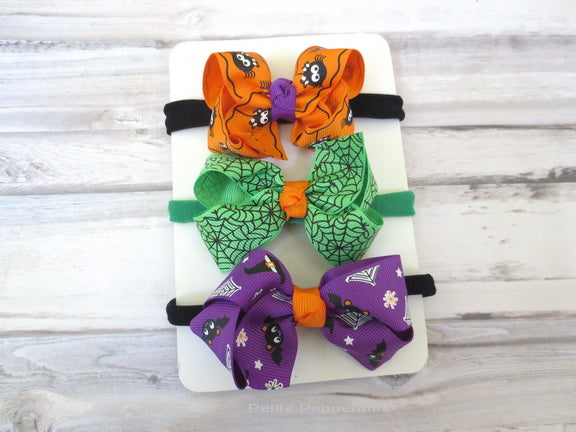 Halloween Bow Headband Set