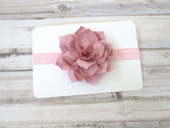 Dusty Pink Flower Headband