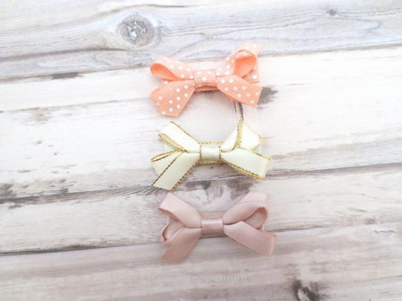 Bow hair clip set for baby, toddler, and little girl
